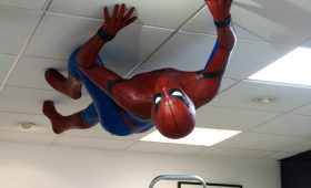 Lifesize Spider-Man for Comicbook shop